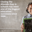 Less than half of countries have achieved gender parity in education